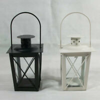 Hollow Metal Lantern Candle Holder Garden Night Wedding Outdoor Tea Light Decor