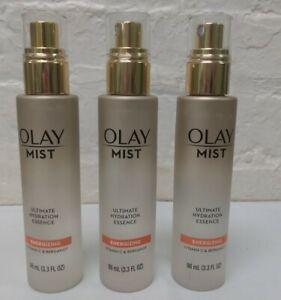 3 ~ Olay Face Mist Ultimate Hydration Essence Energizing Vitamin C & Bergamot