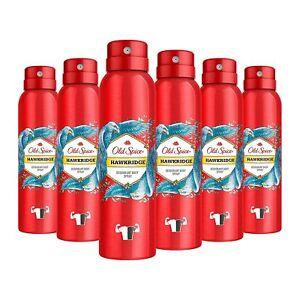 Old Spice Hawkridge Deodorant Bodyspray für Männer 6er Pack (6 x 150 ml)