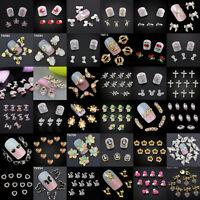 10PC Beauty 3D Glitter Nail Art Alloy Tips Decoration Jewelry Glitter Rhinestone