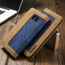 Vintage Jeans Leather Cover Magnetic Flip Card Wallet Case For iPhone/Samsung E