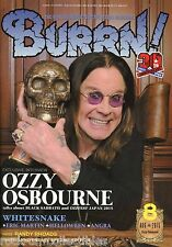 Burrn! Heavy Metal Magazine August 2015 Japan Ozzy Osbourne Whitesnake Angra