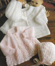 Baby Jackets, Bonnet and Helmet Knitting Pattern in DK two styles 984