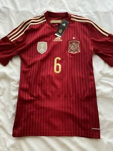 Adidas Spain 2014 Iniesta Home Jersey S Small