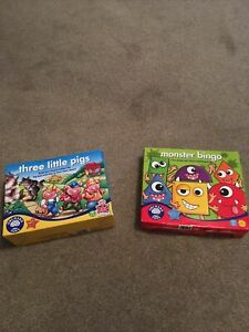 Orchard Toys Three Little Pigs & Monster Bingo Excellent Condition