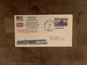 USA 1947 NAVY COVER USCS ARCHER ESCORT CARRIER HMS AVENGER RIO HUDSON USS SABINE