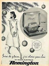 PUBLICITE ADVERTISING 124  1957  REMINGTON    rasoirs éléctriques