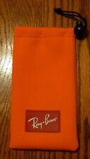 NEW RAY-BAN EYEGLASSES SUNGLASSES OPTICAL POUCH ORANGE CASE ONLY