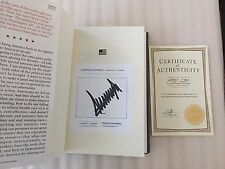#92 Signed Low Number Numbered Authentic PRESIDENT Donald Trump Crippled America