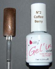 Gel'in soak off color gel polish n°2 Coffee berry MAGNETIC 15ml sous UV/LED