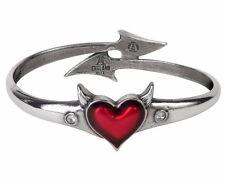 Alchemy Gothic Devil Heart Bangle Bracelet Standard L