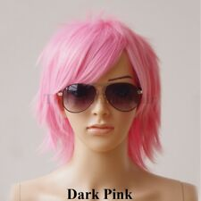 Ombre Short Anime Hair Wig Women Mens Cosplay Party Costume Full Wig Straight t8