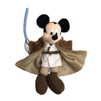 Disneyland Star Wars Mickey Mouse Plush Jedi 2004 Beanie Bag New With Tags