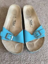 BIRKENSTOCK TULA Sandals Shoes Spain Womens Size 6.5 EURO 37.5 Aqua Blue
