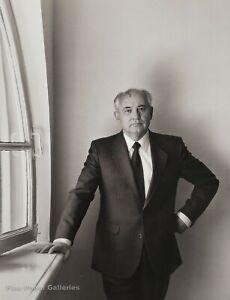 1992 Vintage MIKHAIL GORBACHEV Russia Soviet Leader HERB RITTS Photo Art 16x20