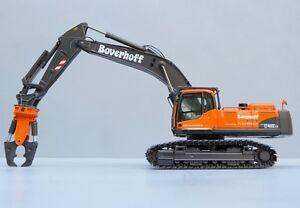 """NZG 812.01 VOLVO EC460CLD Excavator Crusher """"BOVERHOFF"""" 1:50 NEW"""