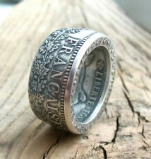 Silver coin ring France - French coin ring - Silver rings - Rings from coins