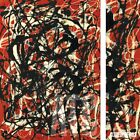 """28W""""x40H"""" FREE FORM 1946 by JACKSON POLLOCK - DRIP SPLATTER CHOICES of CANVAS"""