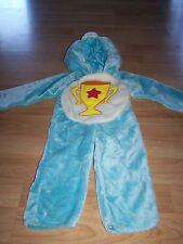 Size 2-4 Care Bears Champ Bear Plush Halloween Costume Blue Trophy Tummy EUC