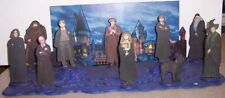 HARRY POTTER PANORAMIC ONE-OF-A-KIND 10-CHARACTER 3-D WOODEN SCULPTURE SET
