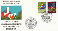 UNITED NATIONS 1983 COMMERCE & DEVELOPMENT FIRST DAY COVER VIENNA SHS