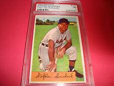 1954 BOWMAN  #103 Stephen Souchock psa 7 Detroit Tigers (787) 144/1192 putouts