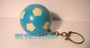 Portachiavi PVC Vintage anni '70-'80 PALLONE AZZURRO BIANCO (old keyring ball)