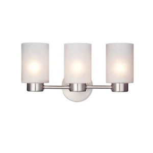 Westinghouse Sylvestre Three-Light Interior Wall Fixture, Brushed Nickel Finish