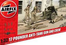 Airfix 17 Pdr Pounder Anti-Tank Gun & 6 Crew Figures 1:32 Modell-Bausatz kit NEU