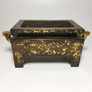 Chinese Antique Gilded Copper Incense Burner