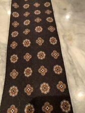 John Nordstrom Wool Tie Neckwear Made in USA Black Print