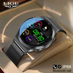 LIGE 2021 Waterproof Sport Smart Watch .Full touch screen for Android iOS