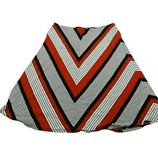 Chaps Red Black & White Striped Skirt Women's Size 3X