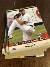 2011 Choice Greeneville Astros Minor League Team Complete Set Adrian Houser