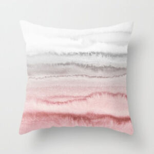 Pink and Grey Watercolour Cushion Cover, blush pink, pale grey, light, sateen
