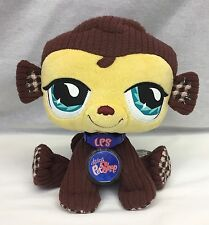 "Littlest Pet Shop Monkey 8"" Plush VIP Online Stuffed Toy Sealed Code Hasbro 2007"