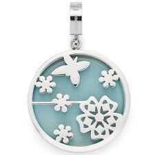 Leonardo Damen Charms Schmetterling Nella Darlin's  Silber Grün Glas 016264