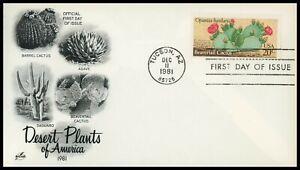 FIRST DAY COVER #1943 Desert Plants / Beavertail Cactus ARTCRAFT U/A FDC 1981