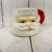 Vintage National Potteries Co NAPCO MINI Santa Mug Japan Orig Label A