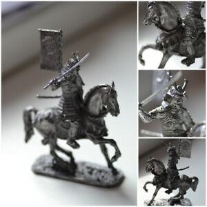 Japanese Samurai on horse tin toy 1/24 75mm samurai miniature samurai figurine
