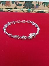 Sterling Silver Bracelet with zirconia stones, New, Marked CI 925