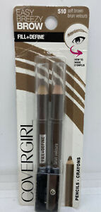 Covergirl Easy Breezy Brow Pack of 2 Pencils w/ Sharpener Soft Brown