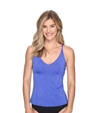 various colors 35b88 b8547 Nike Women s Iconic Heather V Back swimsuit tankini top size M BLUE