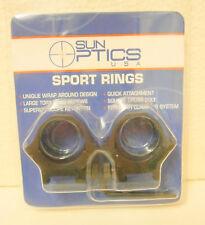 Sun Optics 30mm Black Rifle Scope Rings Medium . Weaver or Picatinny Fitting.