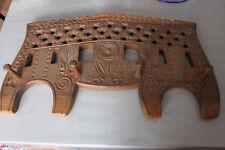 ANCIEN PORTE MANTEAU PATERE BOIS SCULPTE MONOXYLE ART POPULAIRE XIX EME