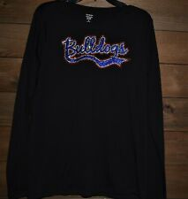 Bulldogs rhinestone glitter  shirt XS S M L XL XXL 1X 2X 3X 4X 5X