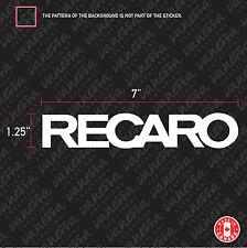 2X RECARO LOGO car sticker vinyl decal