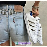 Adidas Stan Smith Blu Borchiate Argento Vintage Scarpe ORIGINALI 100% ® ITALIA 2