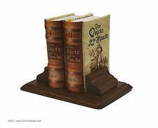 Set 2 Miniature Books Don Quijote de la Mancha w/ stand Spanish version corta