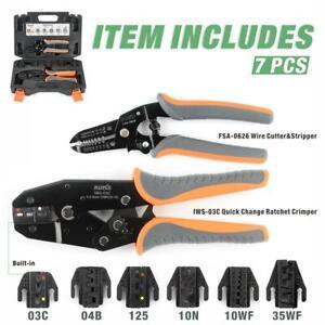 IWISS KIT-0535 Ratcheting Crimping Tool Set Quick Change Ratchet Crimper Set